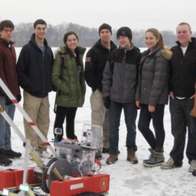 Natick High ROV on ice
